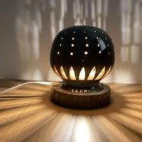 幻の須佐唐津焼 窯元製作陶器ランプ